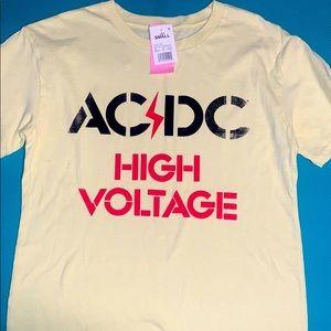 NWT AC/DC yellow T-shirt